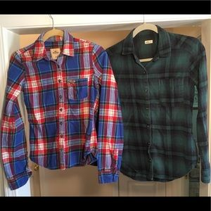 2 Hollister Plaid Button Down Shirts